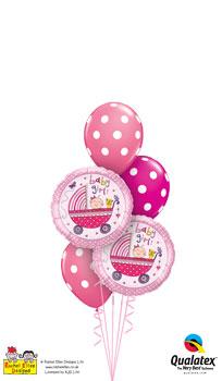 Rachel Ellen - Baby Girl Stroller Balloon Bouquet