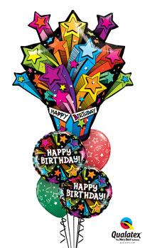 Shooting Stars Birthday Balloon Bouquet