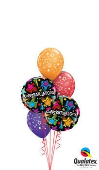 Shooting Stars Congratulations Balloon Bouquet