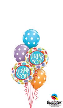 Thank you Polka Dots Balloon Bouquet