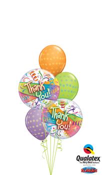Thankyou Bubbles Balloon Bouquet