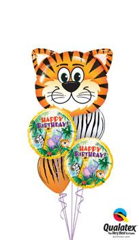 Tickled Tiger Birthday Balloon Bouquet