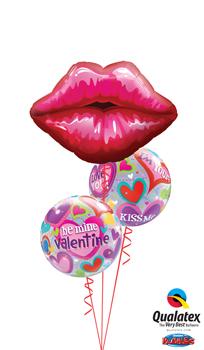 Valentine Kisses Balloon Bouquet