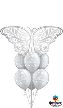 Wedding Butterfly Balloon Bouquet