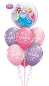 princesses bubble Balloon Bouquet