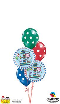rachel ellen - 1st birthday monkey Balloon Bouquet
