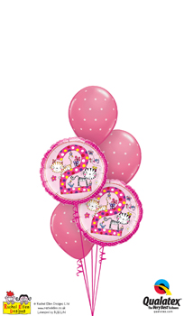 rachel ellen - 2nd birthday kittens Balloon Bouquet