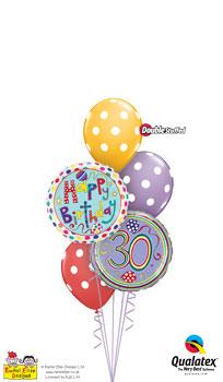 rachel ellen - 30th birthday Balloon Bouquet