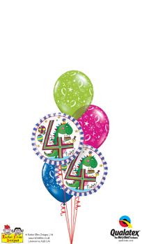 rachel ellen - 4th birthday dinosaur Balloon Bouquet