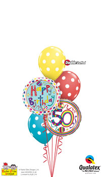 rachel ellen - 50th birthday Balloon Bouquet